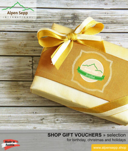 Gourmet shop gift vouchers selection