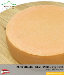 Alps cheese wheel - 6 kg - spicy