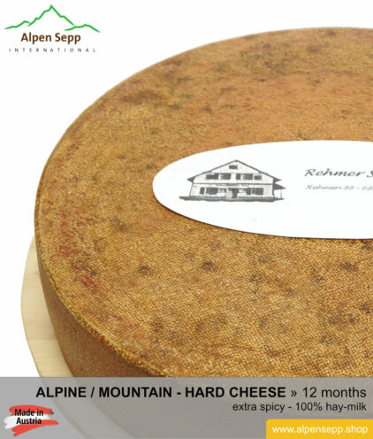 Mountain / Alpine cheese wheel extra spicy taste