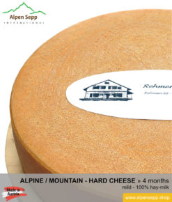 Mountain / Alpine cheese wheel mild taste