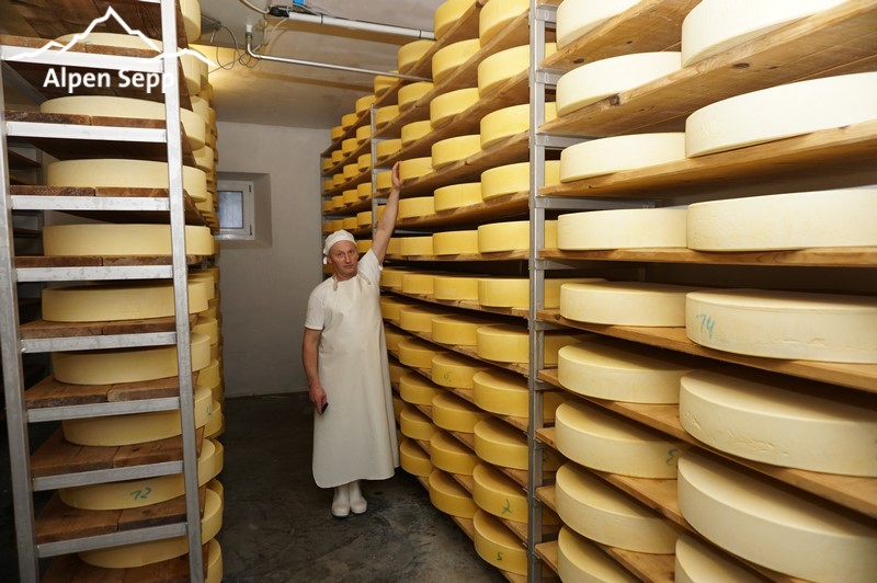 Mountain / alpine cheese maturing cellar - alpine dairy Rehmen - Bregenzerwald