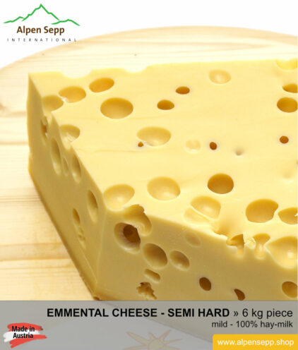 Emmental cheese piece - 6 kg - mild