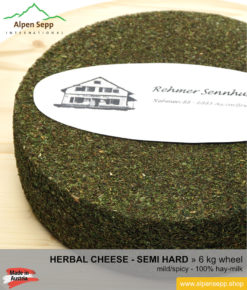 Herbal cheese wheel - 6 kg - mild