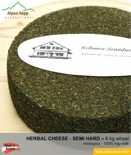 Herbal cheese wheel - 6 kg - mild