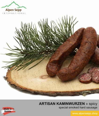 Hand made Kaminwurzen sausage - traditional hard sausage