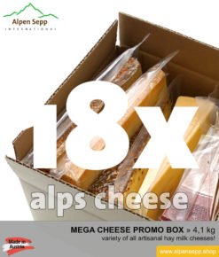Mega cheese promo box - 18 different alps cheeses