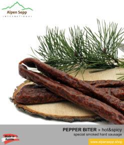 ARTISANAL PEPPER BITER, special smoked hard sausage - 5 pairs - Pfefferbeisser