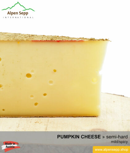 PUMPKIN CHEESE - MILD/SPICY TASTE - semi hard cheese