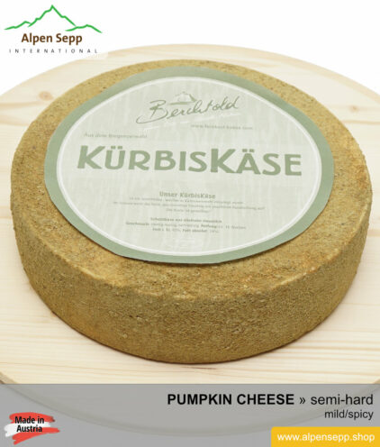 PUMPKIN CHEESE wheel - MILD/SPICY TASTE - semi hard cheese