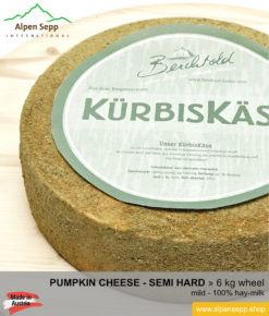 Pumpkin cheese wheel - 6 kg - mild
