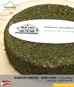 Ramson cheese wheel - 6 kg - mild/spicy