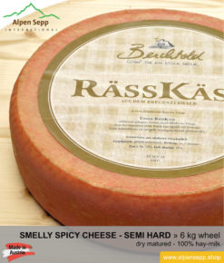 Smelly cheese wheel dry - 6 kg - strong spicy