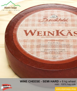 Wine cheese wheel - 6 kg - mild