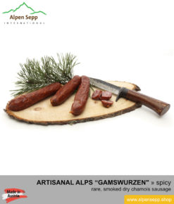 Wild game chamois sausage gamswurzen