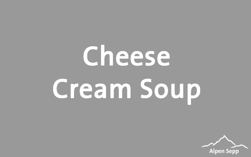 Cheese Cream Soup Recipe
