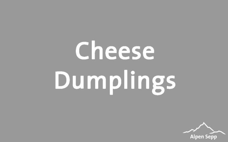 Cheese dumplings recipe