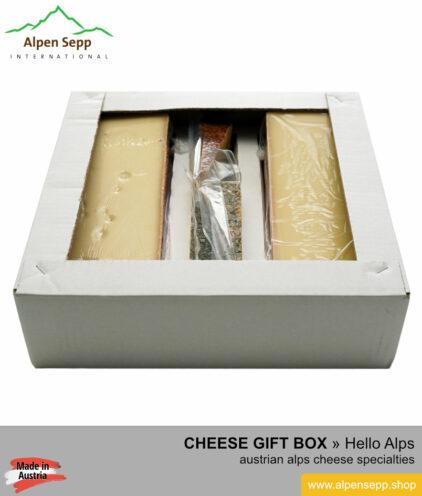 Gift cheese box Hello Alps