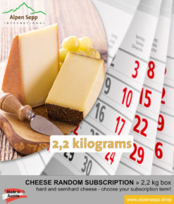 Cheese random subscription box 2,2 kg