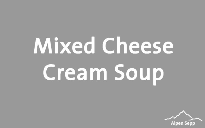 Mixed Cheese Cream Soup Recipe