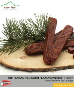 Red deer landhunters - dry, smoked red deer sausage