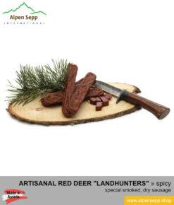 Red deer landhunters - dry, smoked red deer sausage specialty