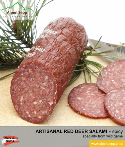 Premium red deer salami