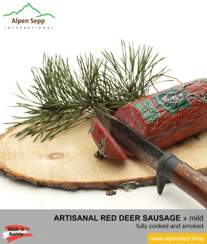 Red deer sausage - from alpine game