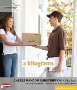 Semihard cheese random subscription box 2 kg