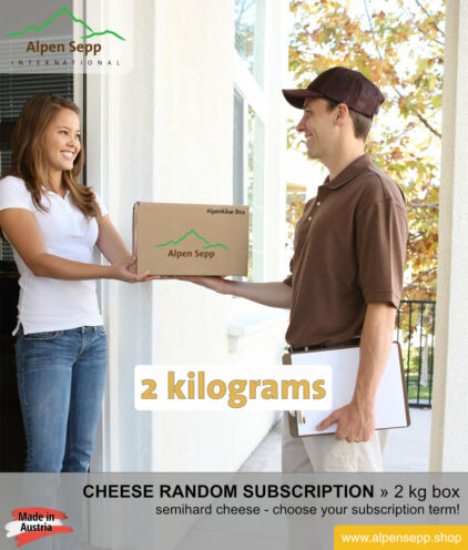 Semihard cheese random subscription box 2 kg