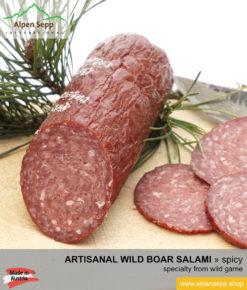 Premium wild boar salami