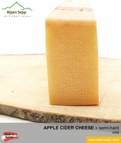 APPLE CIDER CHEESE - MILD TASTE - semi hard cheese
