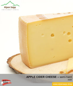 APPLE CIDER CHEESE - MILD TASTE - semi hard cheese