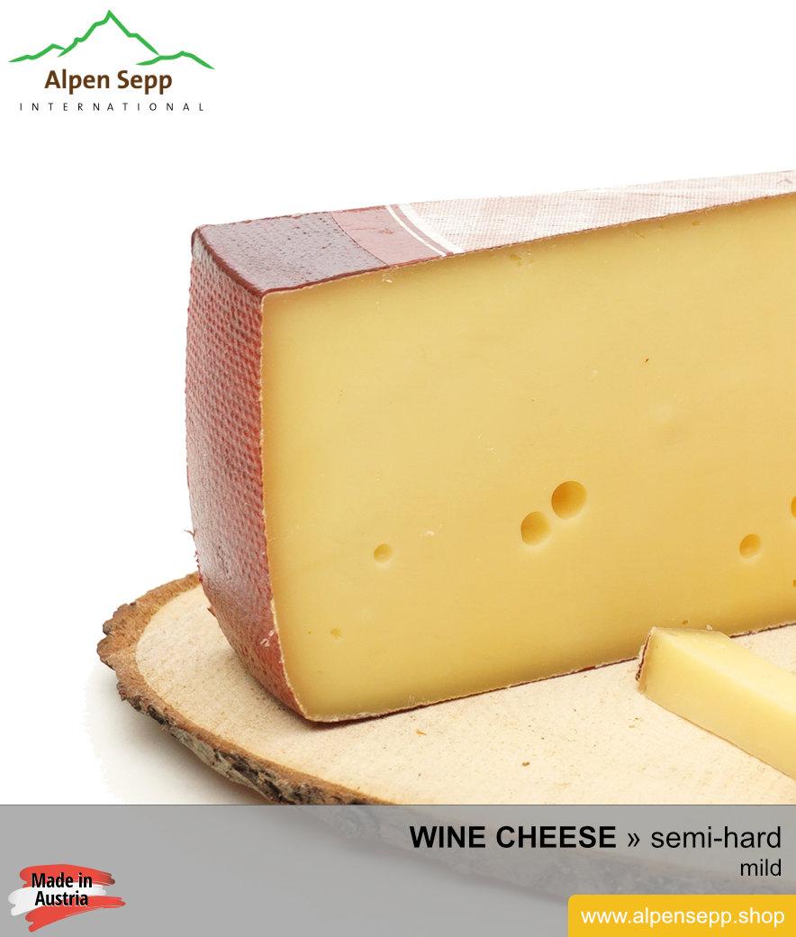 Artisanal semi-hard wine cheese – mild – Weinkäse
