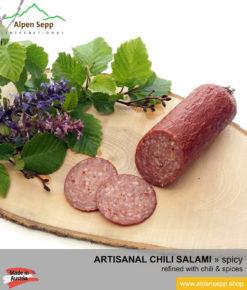 Artisanal chili salami specialty