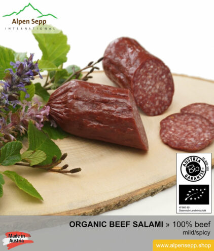 Organic beef salami - 100% beef meat