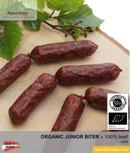 Artisan ORGANIC BEEF junior biter sausage - 100% beef meat