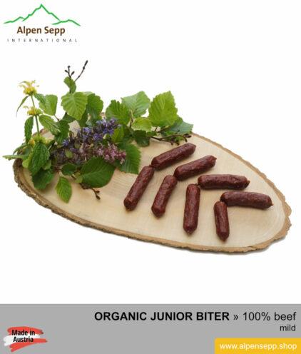 ORGANIC BEEF junior biter sausage - 100% beef meat