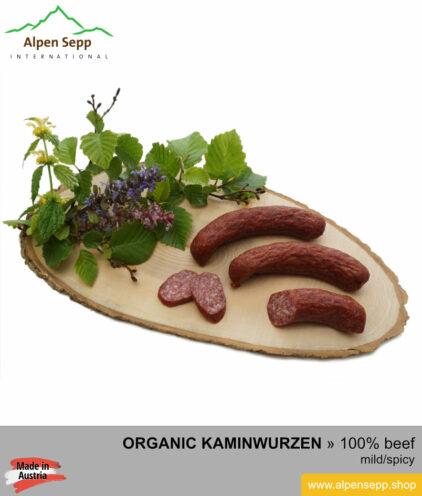 ORGANIC SAUSAGE KAMINWURZEN - 100% from beef meat