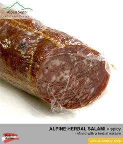 Premium herbal salami