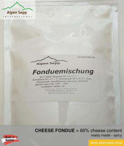 Cheese fondue - ready to use cheese fondue