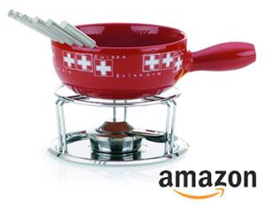 Ceramic cheese fondue set on amazon