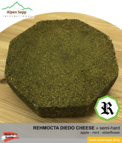 REHMOCTA CHEESE SPECIALTY » Diedo « - semi-hard with apple, mint and elderflower