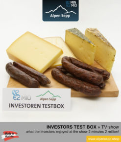 2M2M Investors box with sausage and cheese