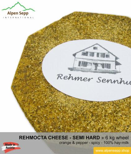 Rehmocta merboth cheese wheel - 6 kg - mild/spicy