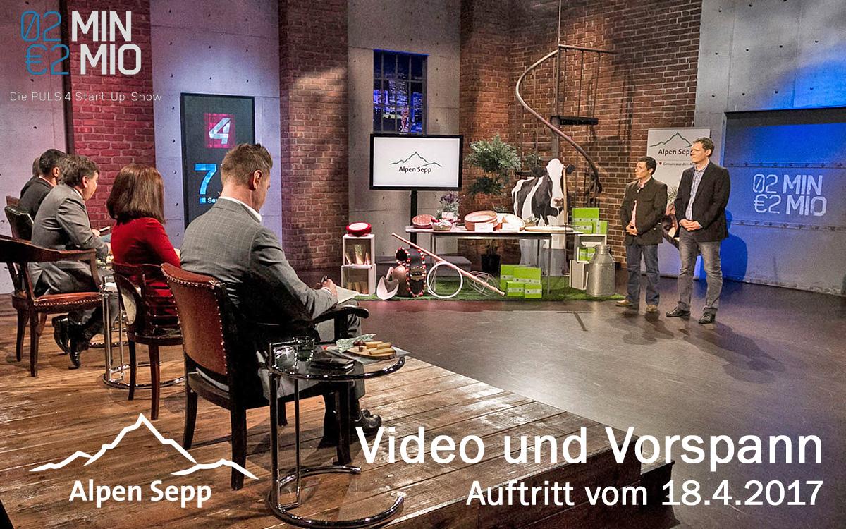 Alpen Sepp 2 minutes 2 million TV show performance video