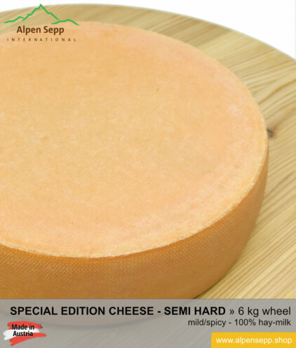 Special edition cheese wheel - 6 kg - mild/spicy