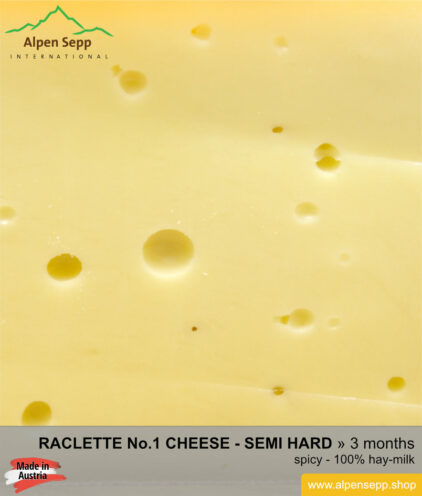 Raclette cheese No 1 - mild/spicy