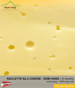 Raclette cheese No 2 - extra spicy