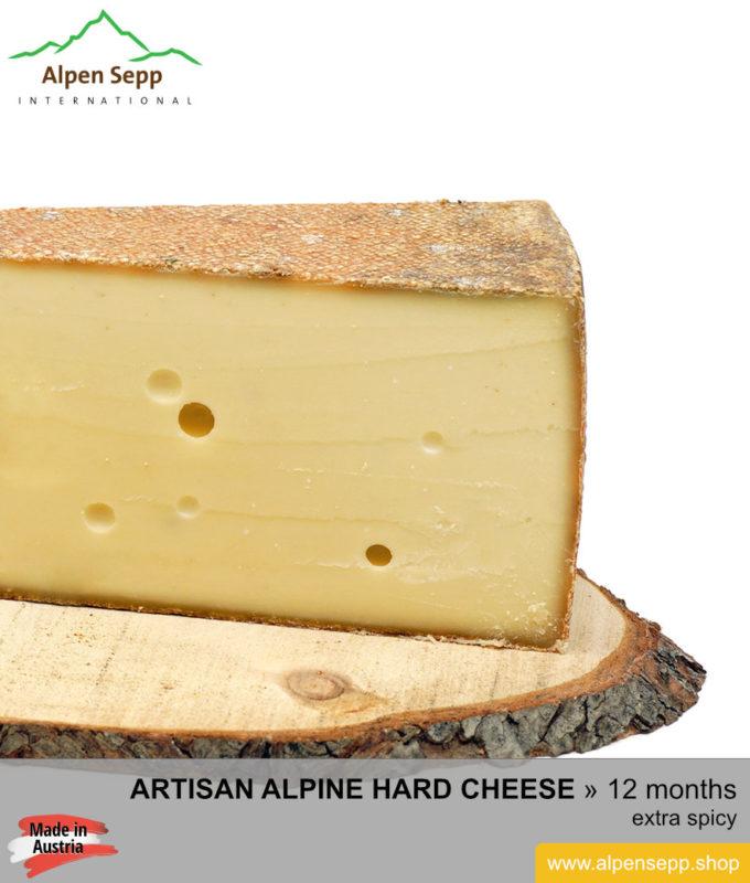 ALPINE HARD CHEESE extra spicy - 12 months