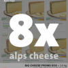 Big cheese promotion box - 8 different artisanal cheeses - all made from hey-milk